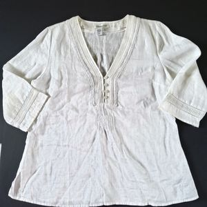 Coldwater Creek Linen Top Tunic Size Large Petite